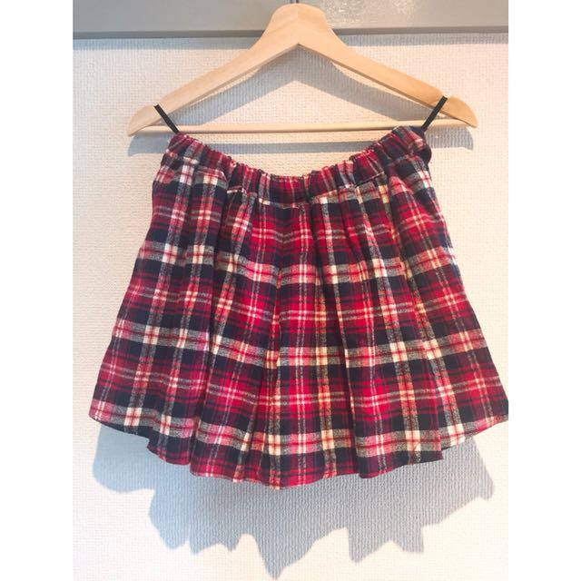 🇯🇵CHARM毛呢蘇格蘭格紋短褲裙