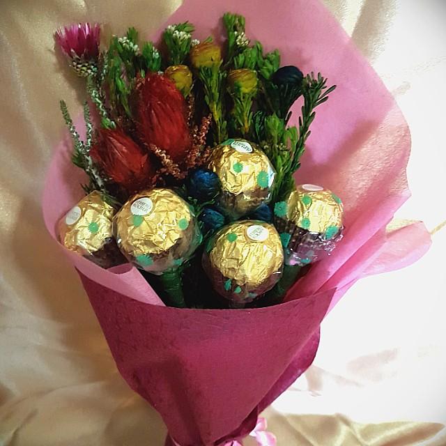 Chocolate Flower Bouquet, Design & Craft, Handmade Craft on Carousell