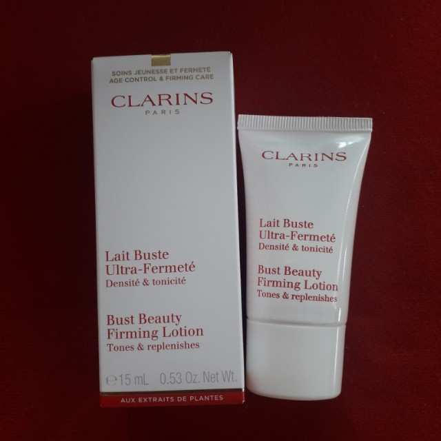 Clarins bust beauty firming lotion ( tones & replenishes)