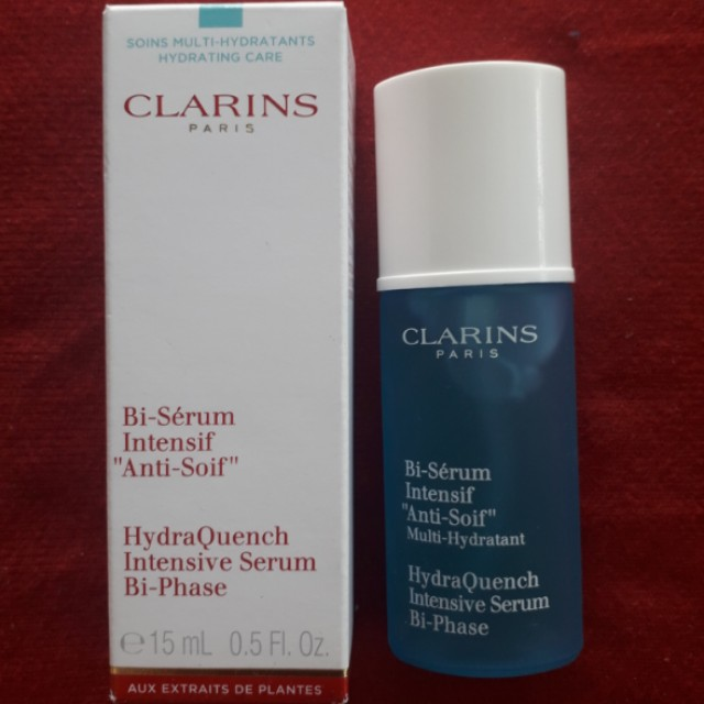 Clarins hydraquench intensive serum bi-phrase 15ml
