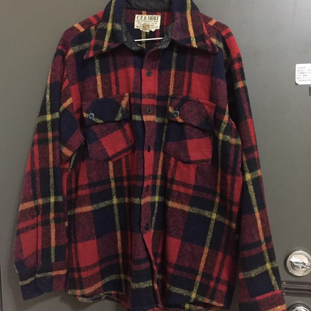 C.P.O SHIRT 古著格紋襯衫外套 vintage