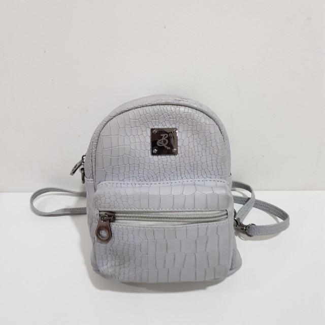 Croco mini backpack/sling