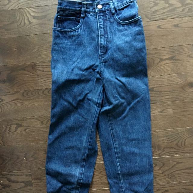 Dark blue mom jeans (24-26)