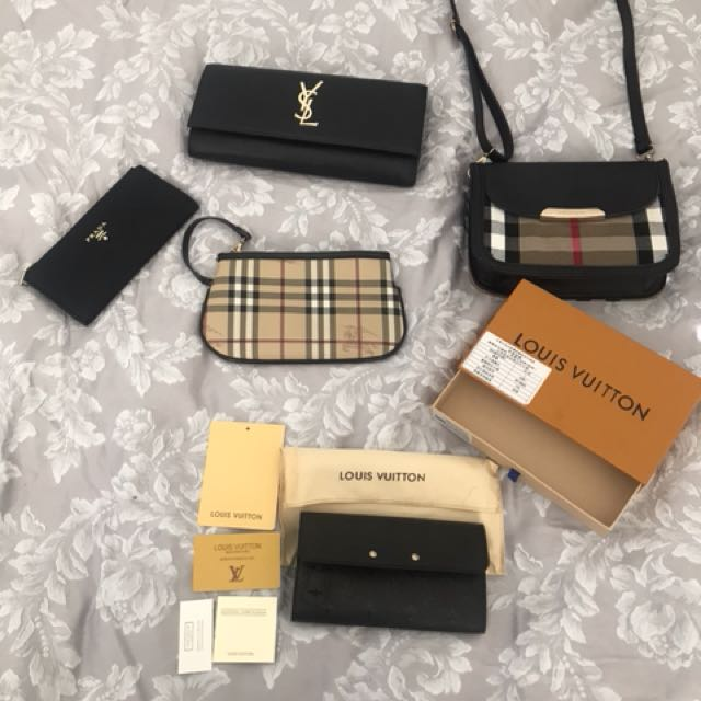 Designer brand bags and wallets