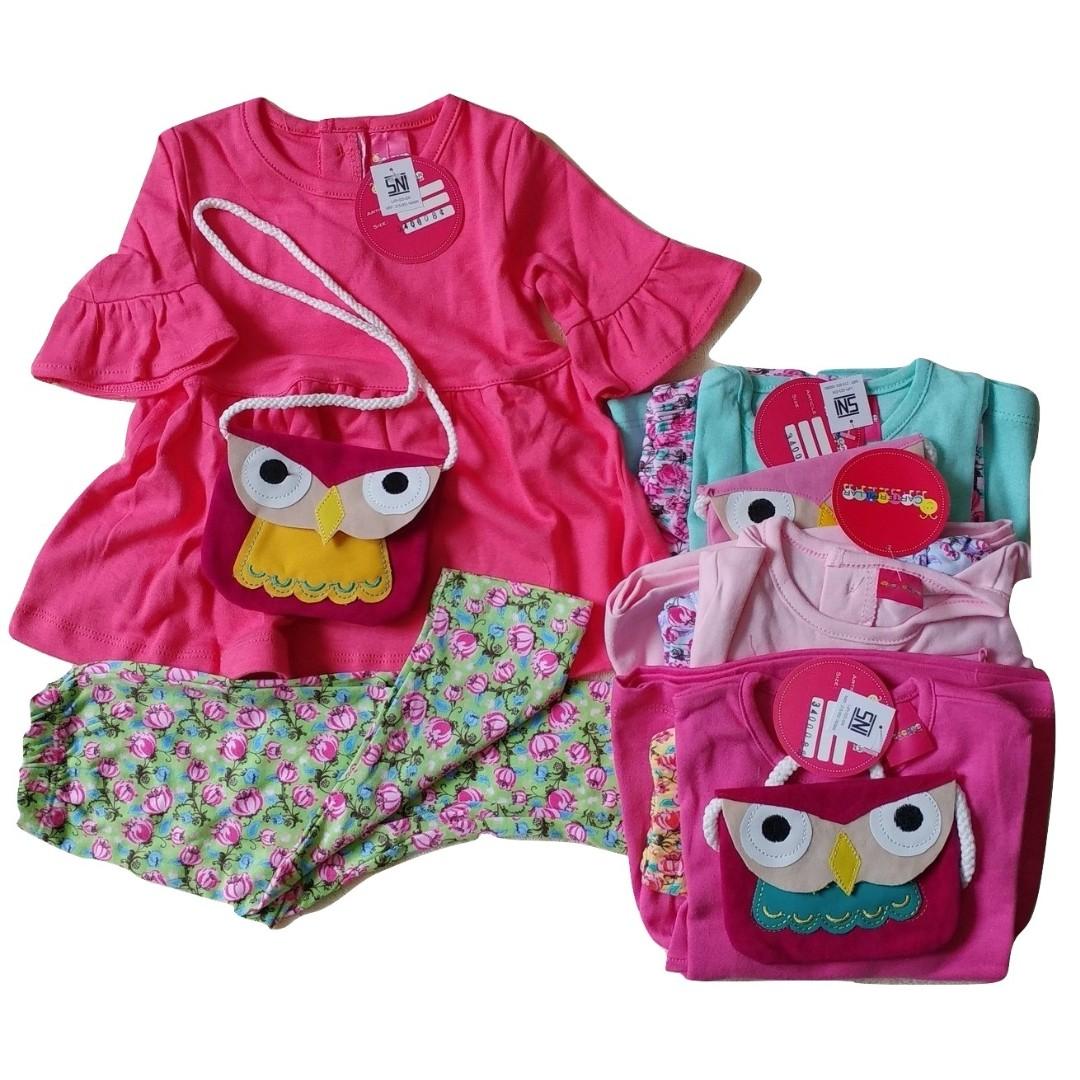 Dress Baby Bayi Anak Owl Caterpilar 6-12 Months Premium Quality -  SNI Standart