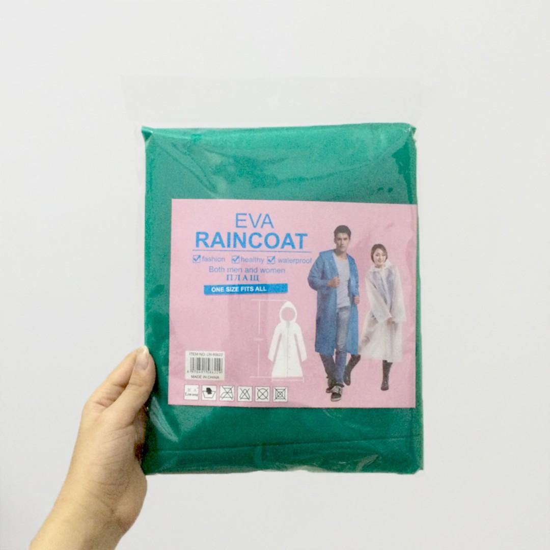 全新/EVA成人雨衣(非一次性)_綠色