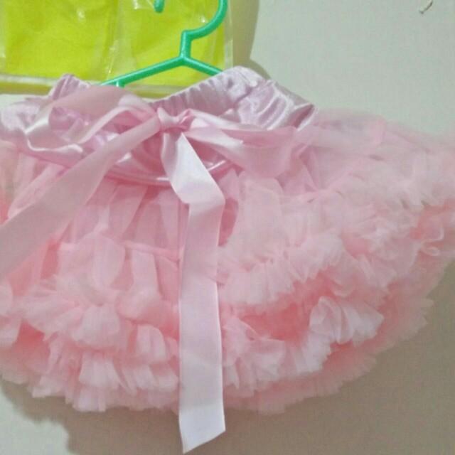 fluffy Tutu skirt +unicorn headband set