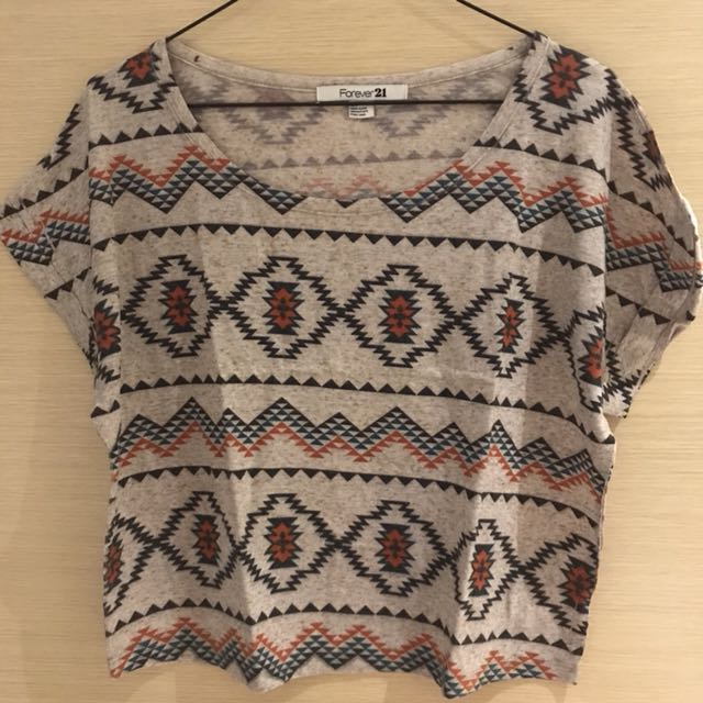 Forever 21 Aztec Cropped Top