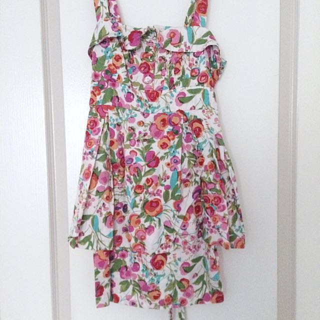 Forever 21 Peplum Water Floral Design Dress