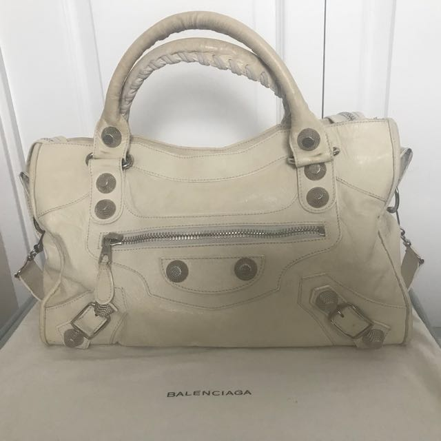 Free Shipping! Authentic Balenciaga Giant Stud 21 City Bag