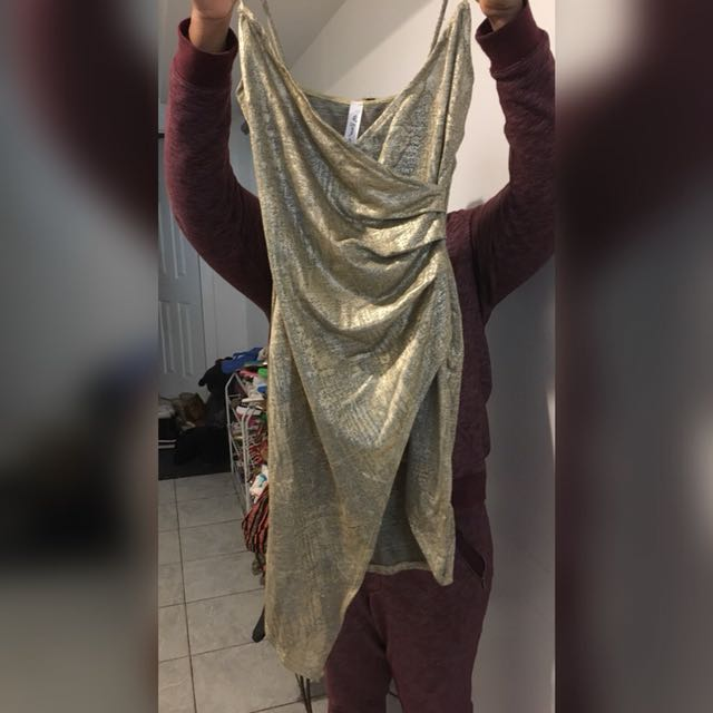 Gold and silver dress