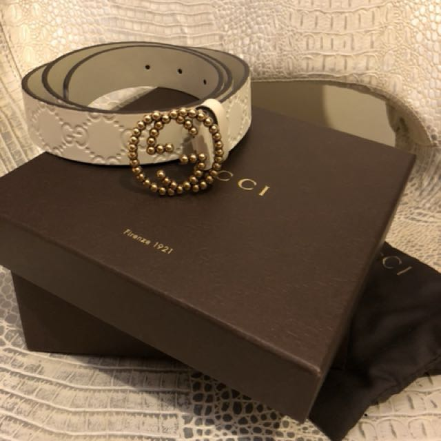 8f5093042145 Gucci Belt Brand New, Cream colour. Comes in dust bag and box. 100cm ...