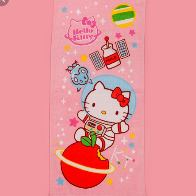 Hello kitty 太空人浴巾