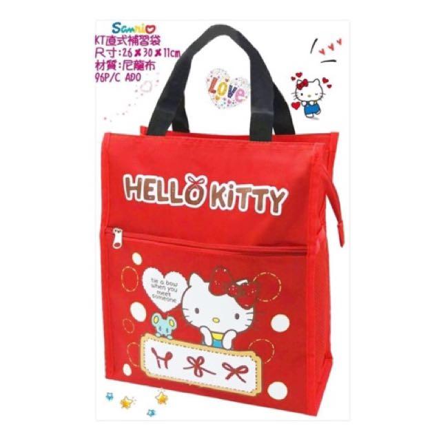三麗鷗HELLO KITTY凱蒂貓直式補習袋 才藝袋 收納袋 置物袋 環保袋 外出袋