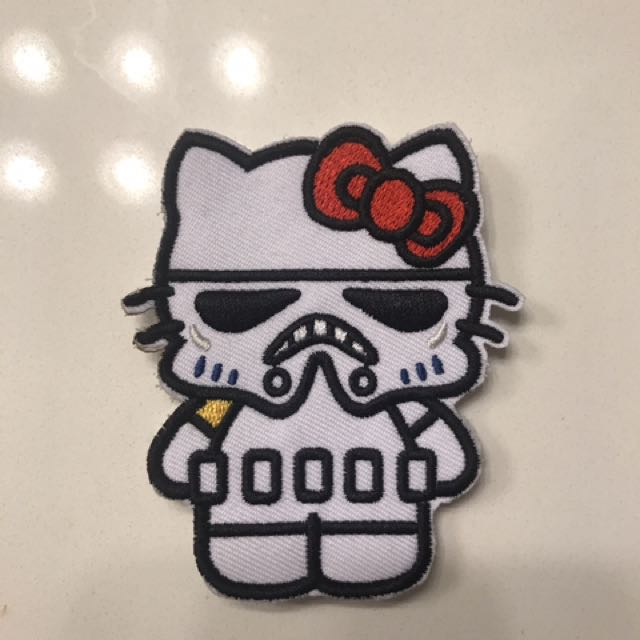 Hello Kitty Stormtrooper Velcro Patch