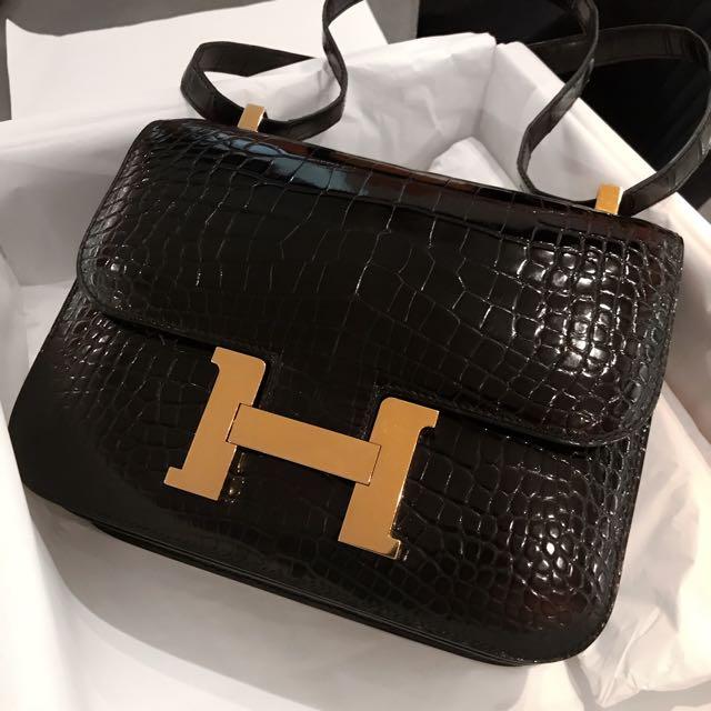5afce71299c3 Hermes Constance 24 Alligator Black Ghw