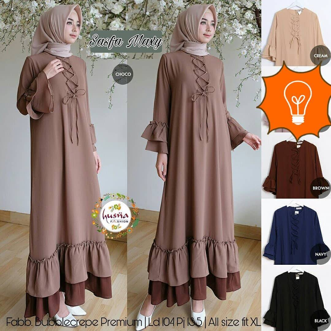IKN - 0118 - Dress Busana Muslim Sasfa Maxy