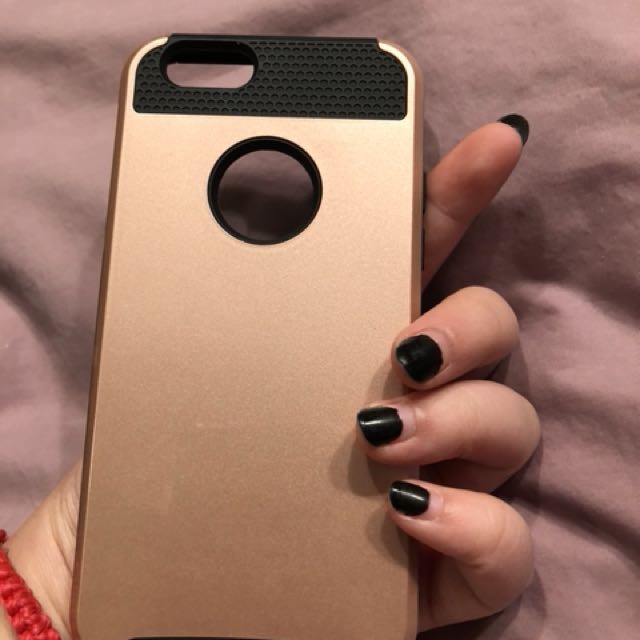 iPhone 6/6s Rose gold and black case
