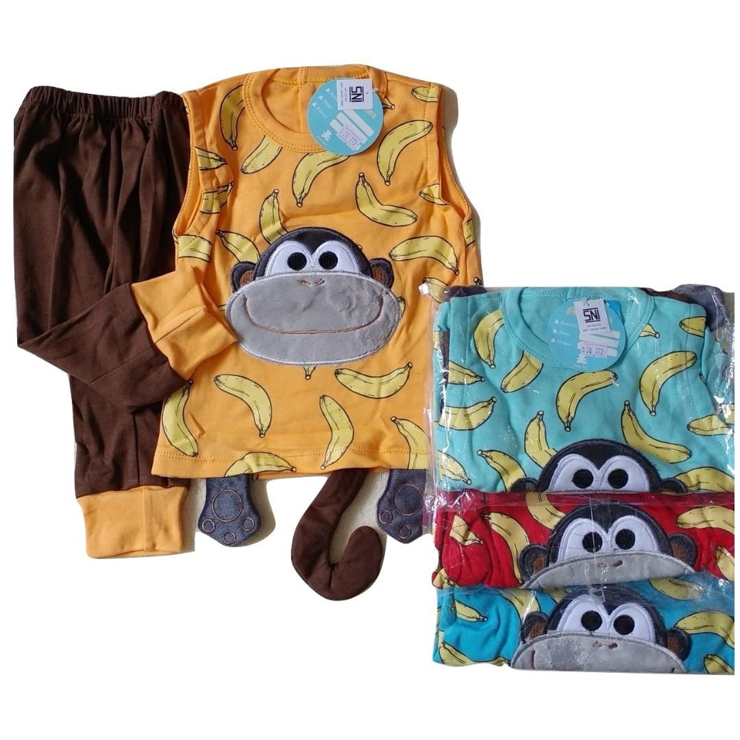 Jelova Angela Setelan Baju Baby Bayi 2-9 Bln Petite Monkey SNI STANDART