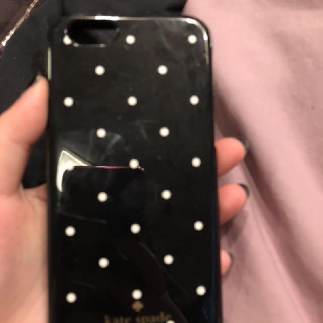 Kate Spade Black case w/ white dots