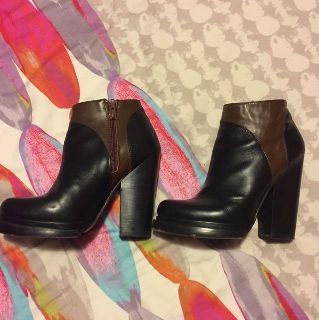 Leather Aldo Heeled Boots Size 7