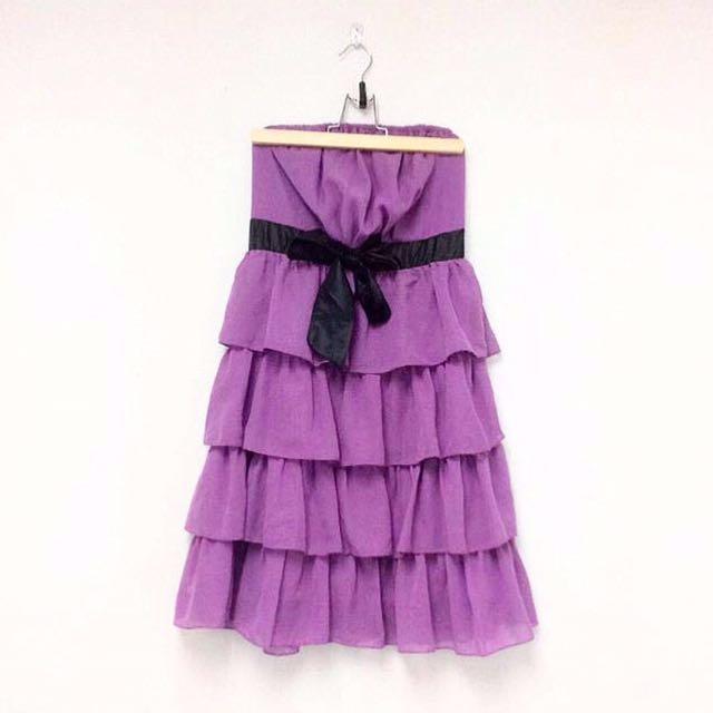 Lilac Tiered Dress.
