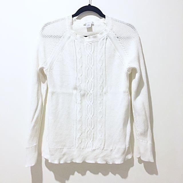 Liz Claiborne white sweater