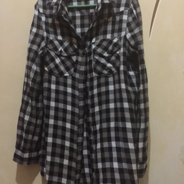 long checkered polo
