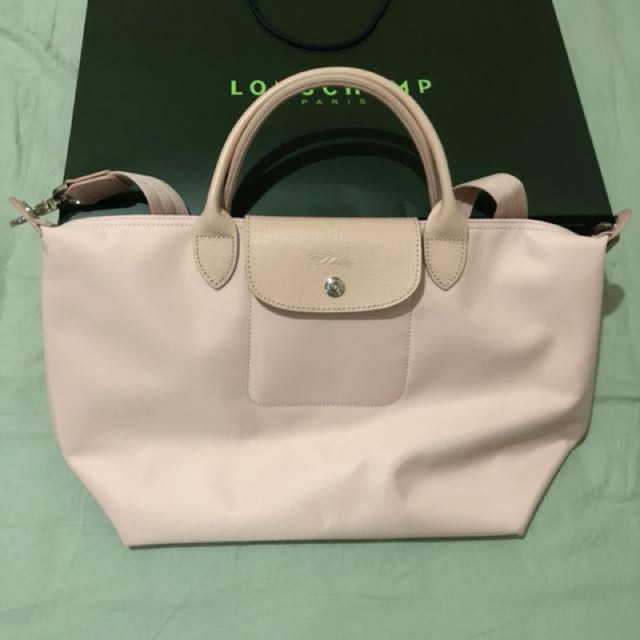Longchamp Nylon Tote Bag - Light Pink, Women s Fashion, Bags ... 2225050594