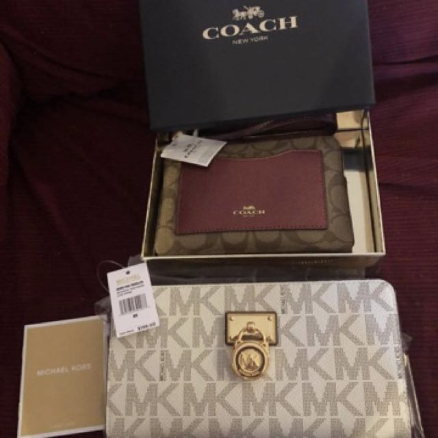 Michael Kors wallet and Coach wristlet