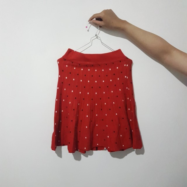 [FREE ONGKIR via Shopee] Mini Red Skirt - Cute