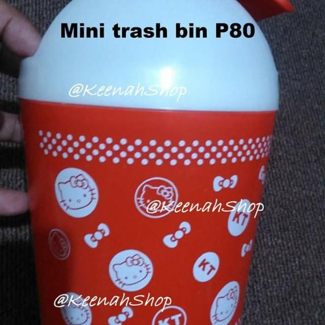 Mini trash bin (hello kitty)