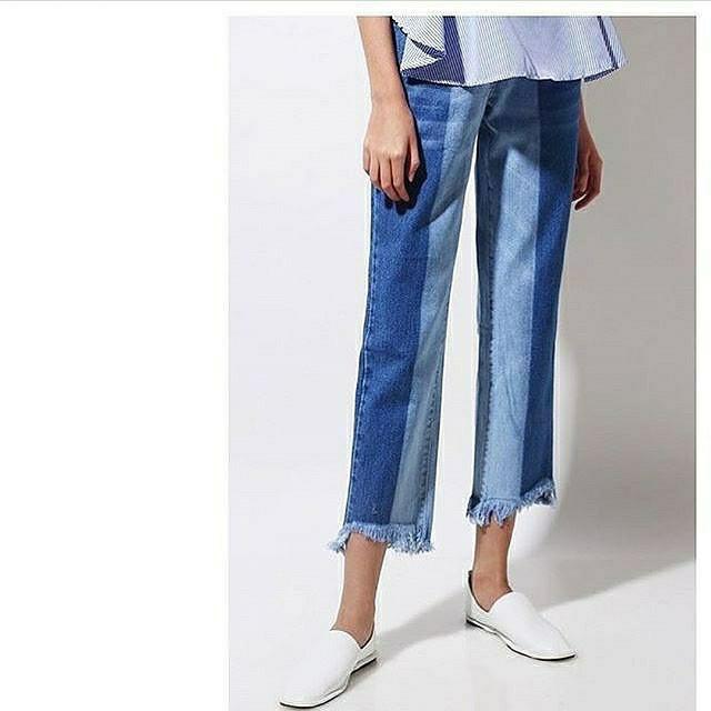 New boyfriend two tone jeans