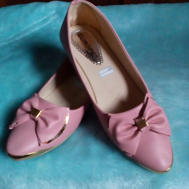 New Flatshoes Ribbon Pink