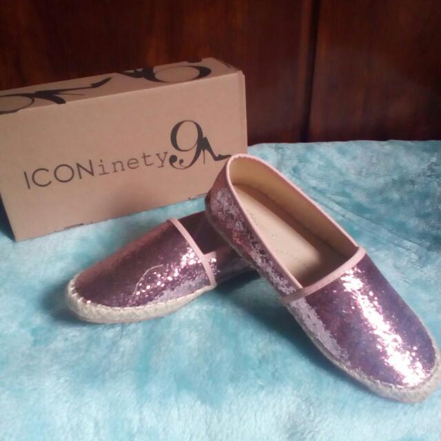 New Slip On Glitter Pink Iconinety9