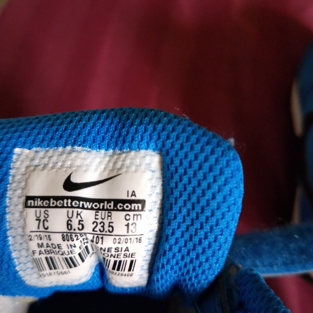 a48d8e89b701 Nike Infant Toddler Shoes (Blue Orange) on Carousell