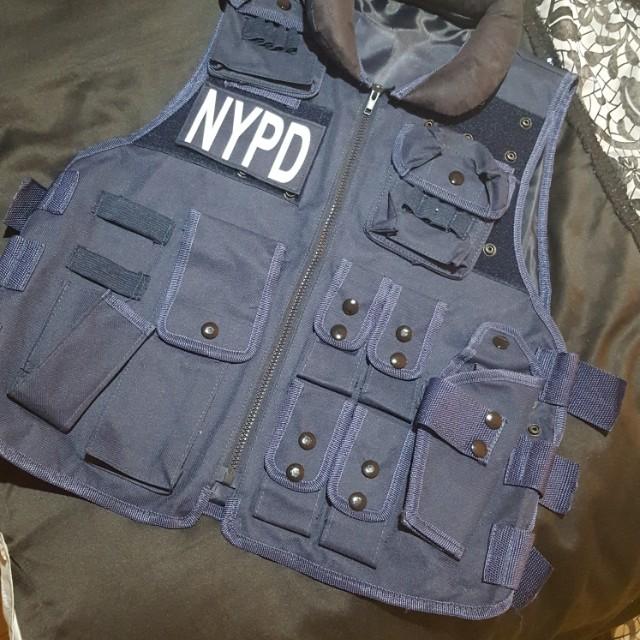 NYPD costume vest