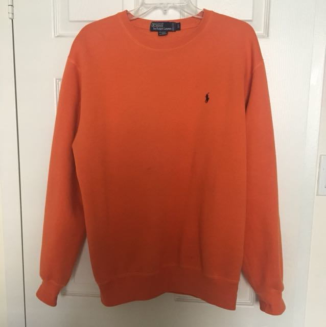 Orange Ralph Lauren Polo Crewneck