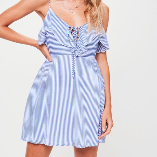 Petite Striped cami dress
