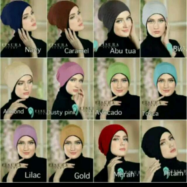 Premium ciput rajut kupluk polos untuk dalaman hijab. Termurah!, Olshop Fashion, Olshop