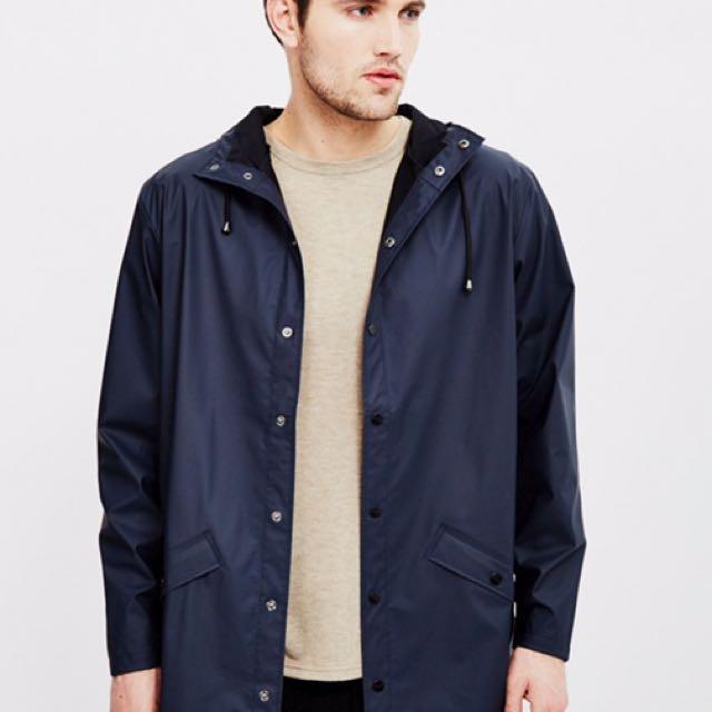 Rains navy jacket waterproof coat  防水 雨衣 防風外套