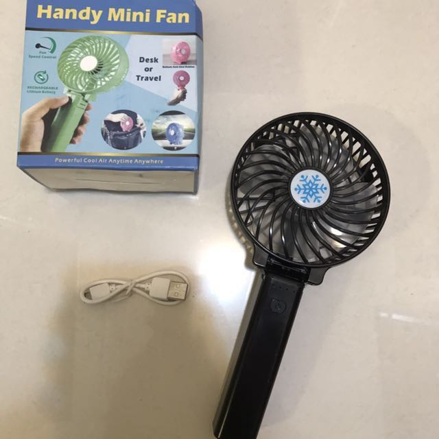 Rechargeable 2 in 1 Hand held and Desk fan