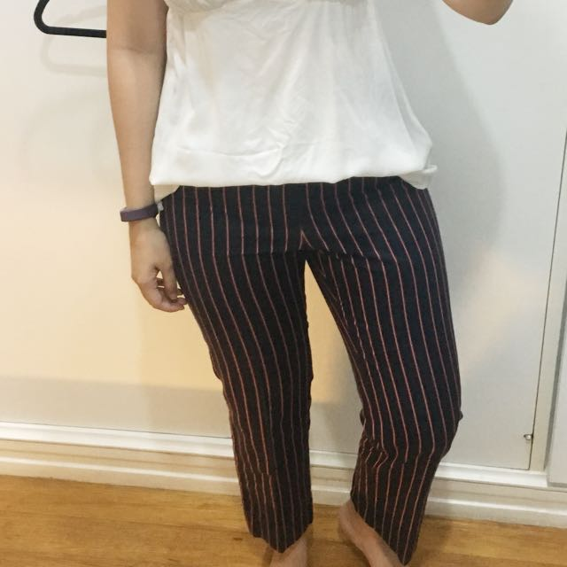 Red Blue Striped Pants