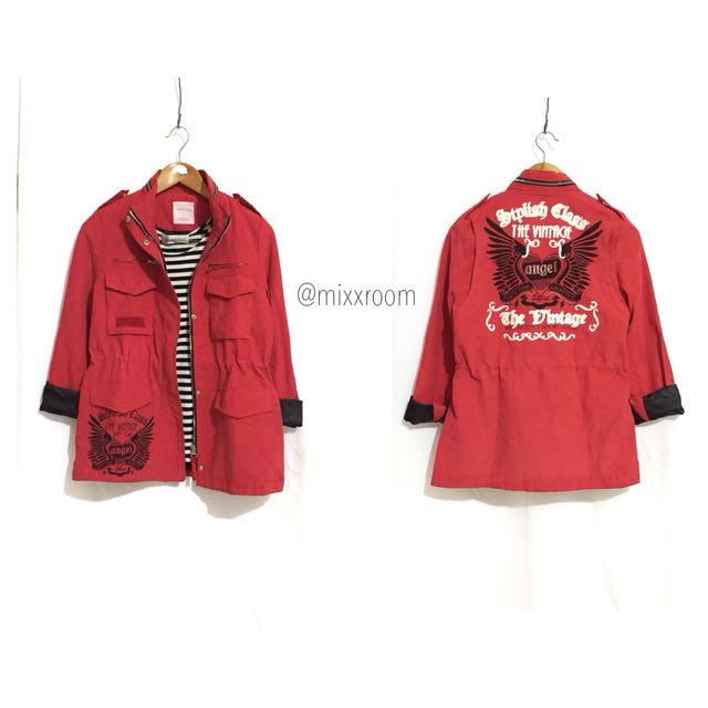 Red parka/jaket