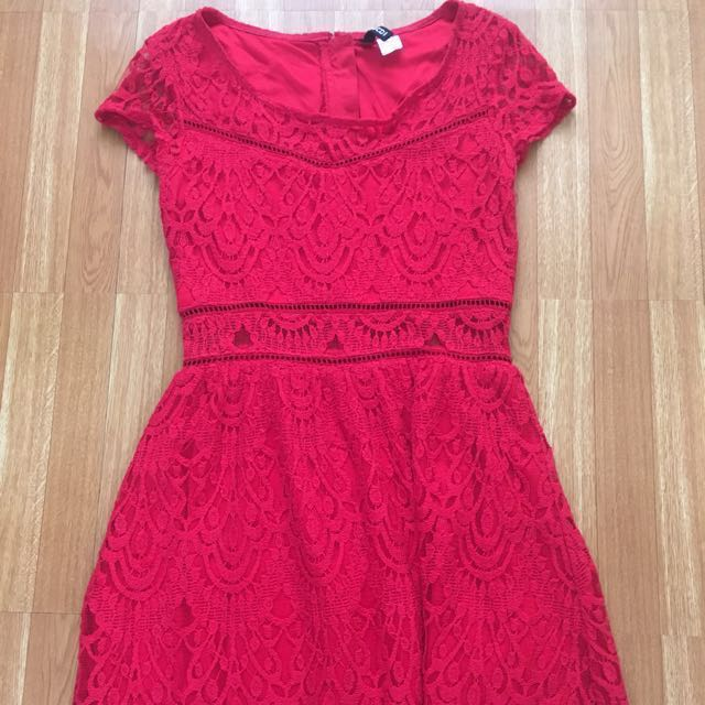 Repriced!!!! H&M Red Lace Dress