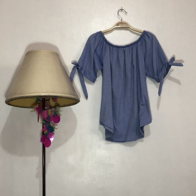 RUSH SELLING!!! Blue off shoulder top