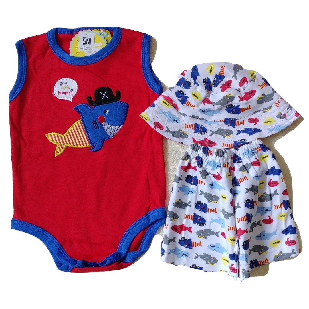 SETELAN BAJU JUMPER BABY BAYI HIU CLOUDBIRD FORMAL PREMIUM QUALITY SNI STANDART