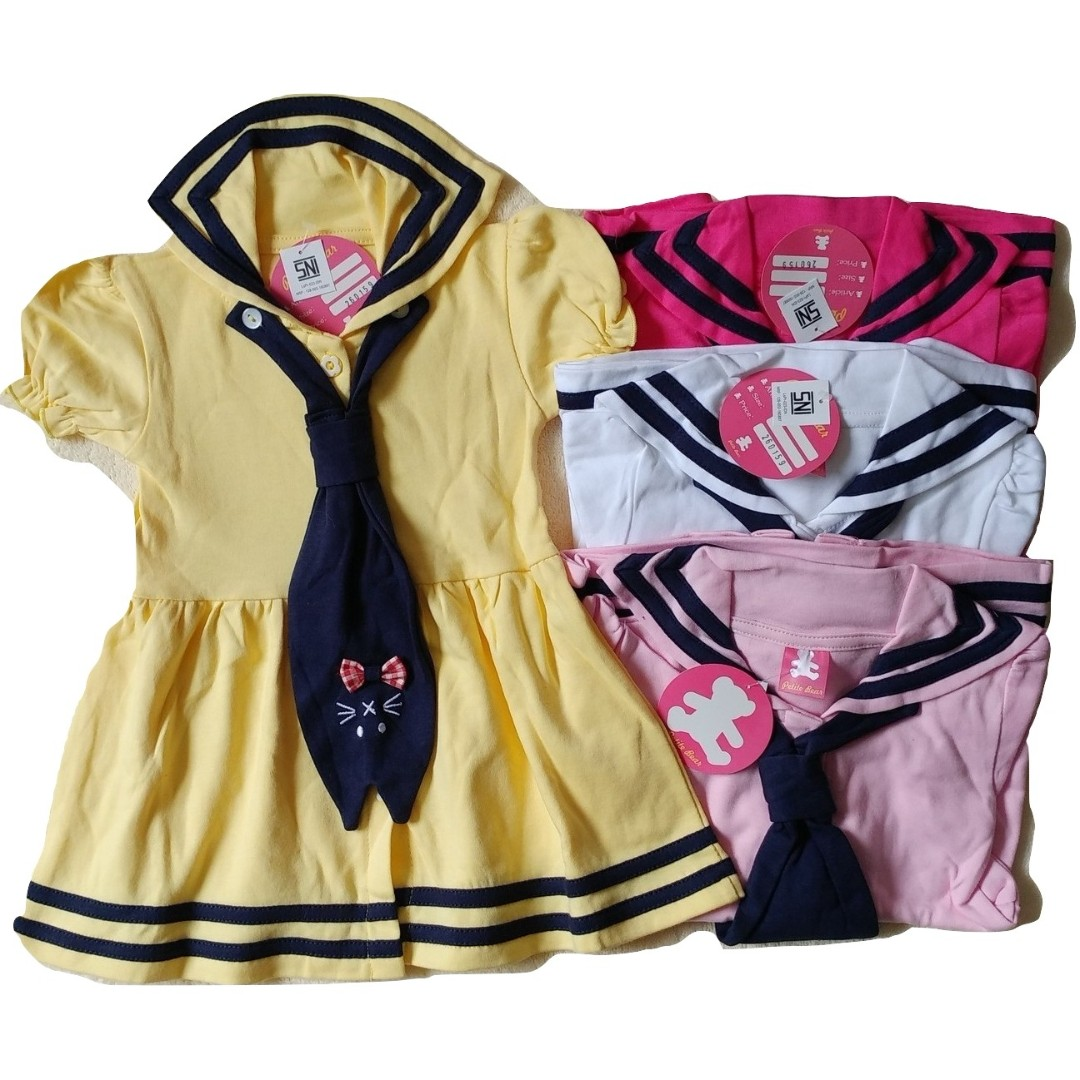 Sett Baju Baby Bayi Dress Kemeja petite - SNI standart 6-14 Months