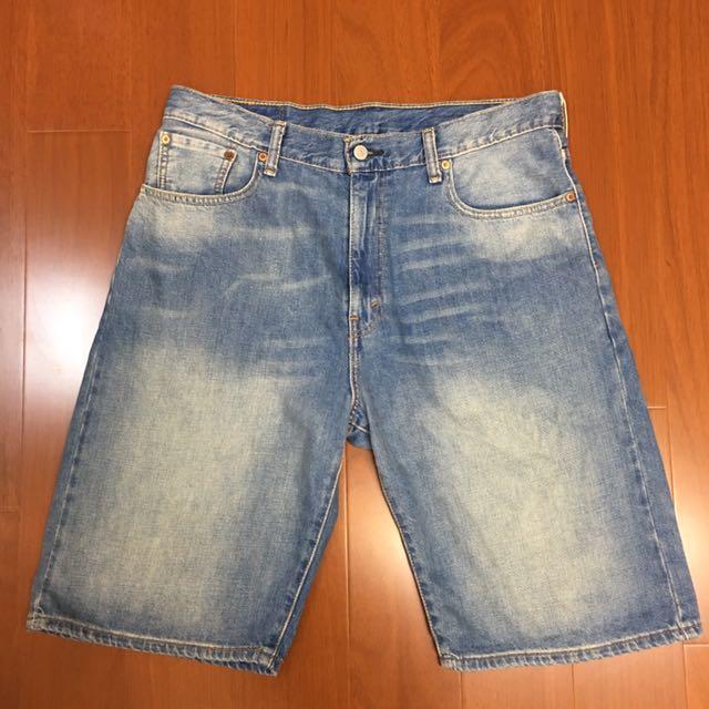 (size 34w版偏大)Levi's 569tm 水洗牛仔短褲