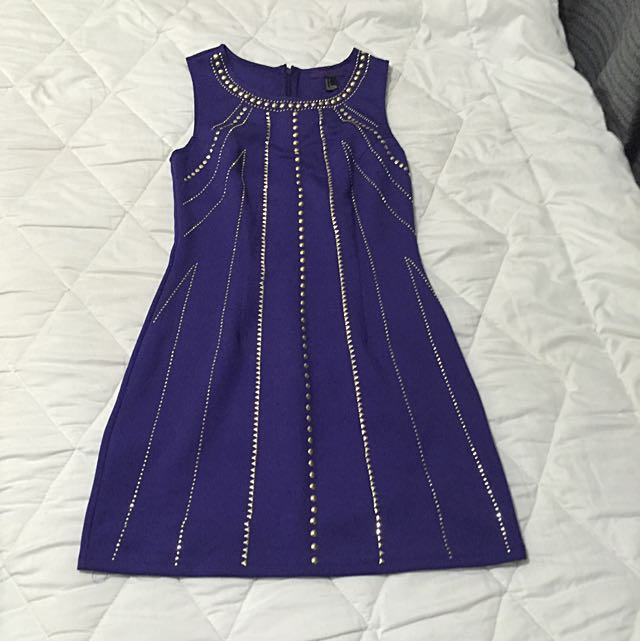 Small size Purple bodycon dress